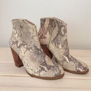 Vince Camuto Snake Skin Bootie